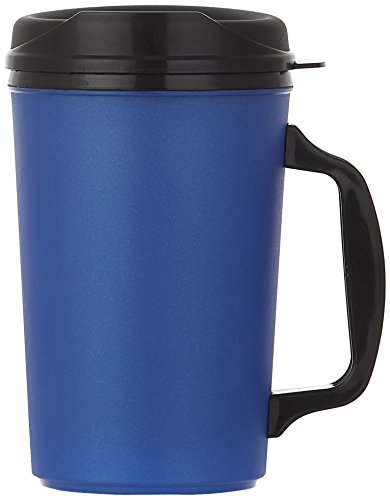 ThermoServ 520A02601A1 Foam Insulated Mug, 20-Ounce, Pearl Dark Blue