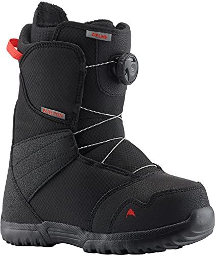 BURTON Zipline BOA Snowboard Boots Kid's Sz 7 Black