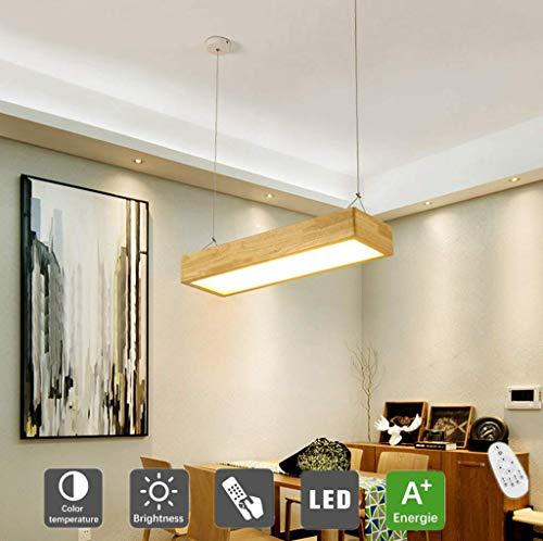 ZXC Araña led nórdica, Barra de Barra Rectangular Sencilla Moderna araña de oficinas, lámpara de Restaurante Japonesa, L90cm