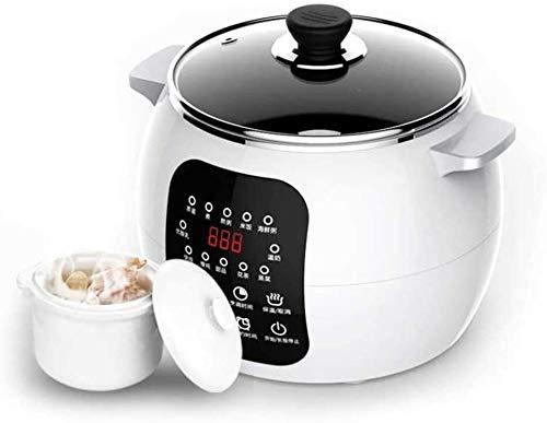 NLRHH 220V eléctrica Olla de cocción Lenta 2.5L 13 Menú de cerámica Sopa de Desayuno Pot máquina DIY de la salmuera Yogur Fabricante 12H Designación 220V (Color: 220v, Tamaño Peng (Color : 220v)