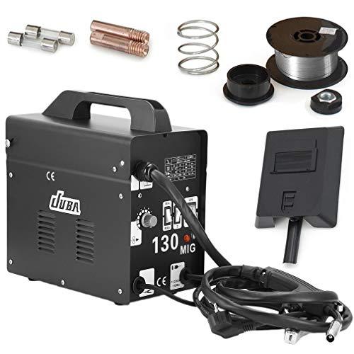 Poste à souder inverter MIG-130, Machine de soudage électrique professionnelle, Noir