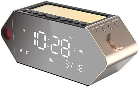 Projection Alarm Clock for Bedrooms 180 Ceiling Projector Sunrise Clock Dual Alarms with FM product image