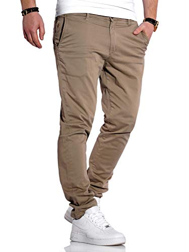 JACK & JONES Herren Chino Hose Chinos Herrenhose JJ Slim Fit (W32 L32, Beige)