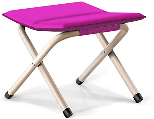 Knoijijuo Outdoor Folding Stool Chair Small Strap Cavallo Portatile Piccola Panca,F