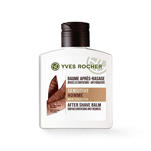 Yves Rocher SENSITIVE HOMME After-Shave-Balsam, besänftigender Balsam nach der Rasur, für empfindliche Haut, 1 x Flacon 100 ml