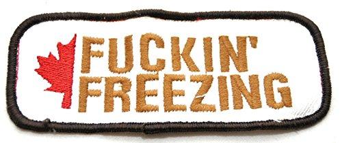 Aufnäher Fuckin Freezing Patch für extreme Kälte für die Jacke / Hose usw 13 X 5 CM