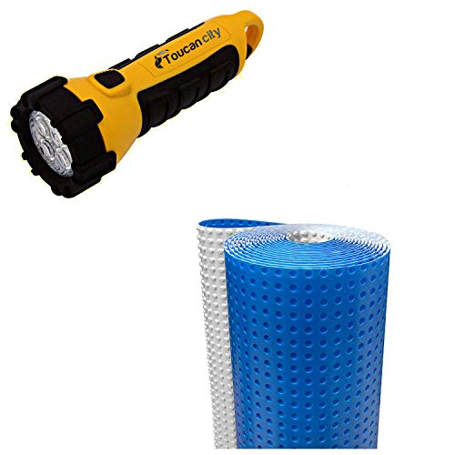 Toucan City LED Flashlight and DMX 1-STEP 100 sq. ft. 3.6 ft. x 29 ft. x 5/.32 in. Underlayment for Vinyl Planks, Laminate and Engineered Hardwood Floors DMX 1-Step 2.0