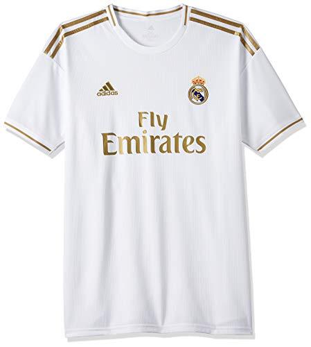 adidas Real Madrid H Jersy, Maglietta da Calcio A Maniche Corte Uomo, Bianco, M