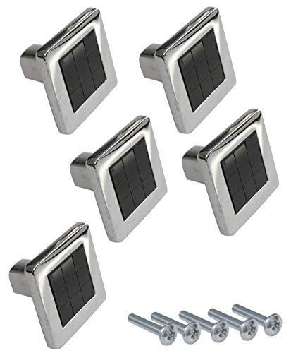 AERZETIX: 5 x Griff für Schublade Schrank Minho verchromt Schwarz 25 mm C41768