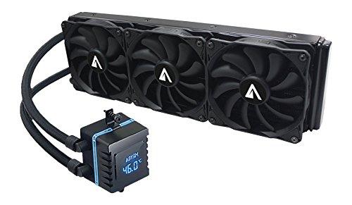 Abysm Atlántico 360 - Kit de Refrigeración Líquida 360 mm con Display de Temperatura y RPM, Color Negro