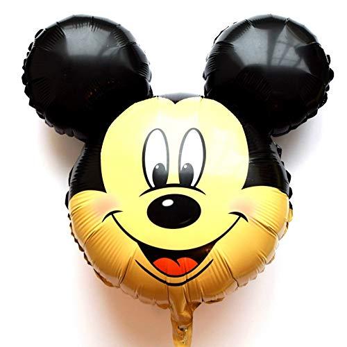 SauParty Kein Helium Ballon! Micky Maus Kopf Disney Minnie Folienballons Gesicht Geschenk, Form:R35F9 Micky