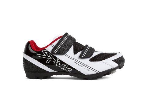 Spiuk Uhra MTB - Zapatilla de Ciclismo Unisex, Color Blanco/Negro, Talla 45