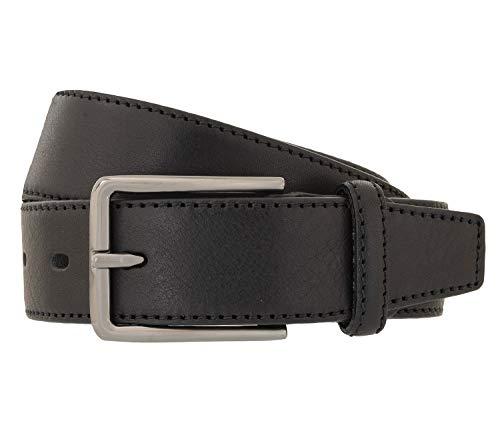 LLOYD Men's Belts Gürtel Herrengürtel Vollrindleder Ledergürtel Schwarz 118, Länge:90, Farbe:Schwarz