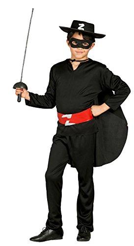 Guirca 78703 Déguisement renard avec chapeau pour enfant de 10 à 12 ans Noir