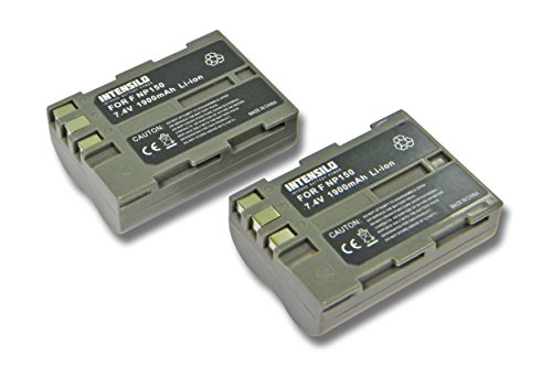 INTENSILO 2X Li-Ion batería 1900mAh (7.4V) para cámara de Video, videocámara Fuji Fujifilm FinePix S5 Pro por Fuji NP-150.