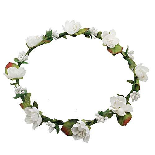 Haarband voor bruiloft, kroon, vrouwen, meisjes, bloemenkroon, bruiloft, festival, party, accessoire, Wit.