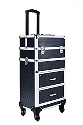 Rolling train case with