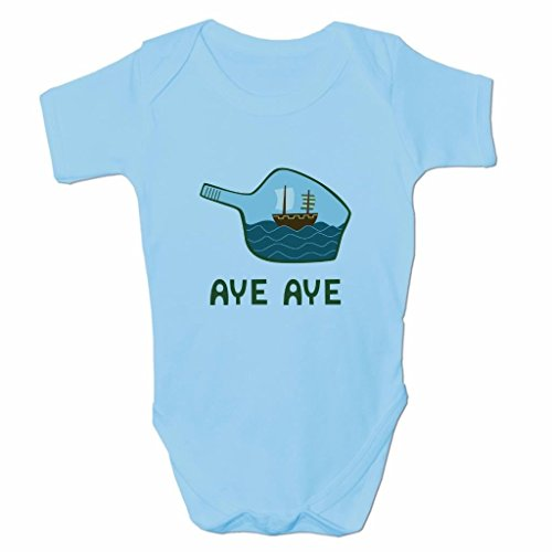 Funny Baby Grows Cute Baby Clothes for Baby Boy Baby Girl Body Vest Aye Aye Ship in A Bottle