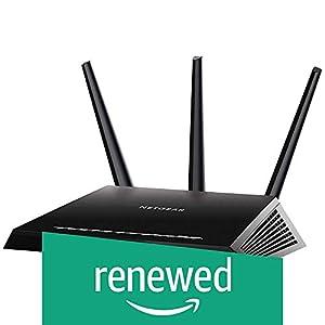 Netgear (R7000P-100NAS) Nighthawk AC2300 Dual Band Smart WiFi Router, Gigabit Ethernet, MU-MIMO, Compatible with Amazon Echo/Alexa and Circle Smart Parental Controls (Renewed)