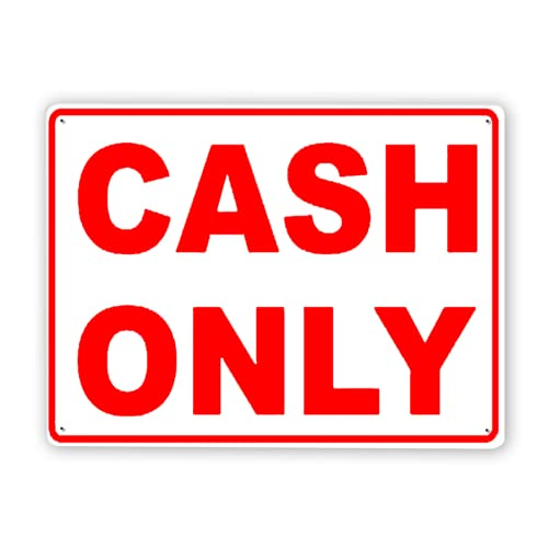 Warning Sign,Cash Only Accepted Sign3,Traffic Sign Road Sign Business Sign 12x16 Inch...