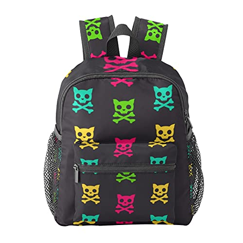 Cartoon Cat Skull Backpack for Boys and Girls Perfect Size for Travel