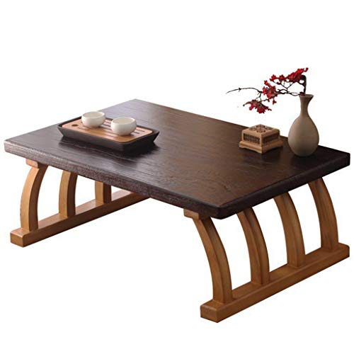 Chi Cheng Fang Electronic business Simple Balcony Small Coffee Table Tatami Table Solid Wood Material Study Bedroom Computer Desk Low Table Gift (Color : Wood color, Size : 70 * 45 * 30cm)