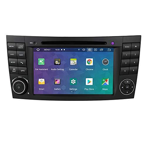 Ossuret Android 10 Radio estéreo de Coche Navegación GPS con Can-Bus Pantalla táctil de 7 Pulgadas Multi Fit para Mercedes-Benz Clase E W211 CLS W219 Clase G W463 CLS 350 CLS 500 CLS 55