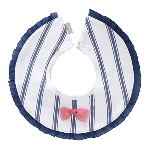 PRETYZOOM Slabbetjes Bandana Kwijl Slabbetjes Voor Kwijlen en Kinderziektes Katoen Super Absorberende Slabbetjes Voor Baby Meisjes Jongens Kraamcadeau Set (Fashion Blauw)