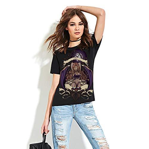 3D T-Shirts, Halloween europäische und amerikanische Bedruckte T-Shirts, weibliche Parade-Zombie-Pin-up-T-Shirts-M