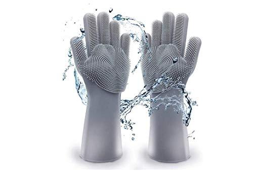 Reinigungshandschuhe Anlising Wiederverwendbare Bürste Geschirrhandschuhe Gummi-Handschuh für die Haushalt wash Scrubber Magische Silikonhandschuhe Hitzebeständige Spülhandschuhe umweltfreundlich