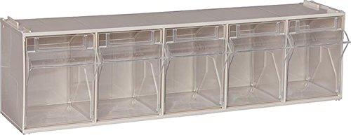 Sichtlagerkasten transparent 5 fach ausklappbare Kunststoffboxen Sichtlagerschrank