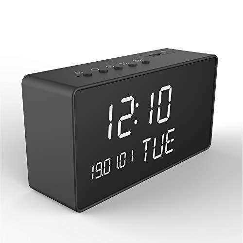 GDLCAMARAS Camara Espia WiFi Inalambrica Reloj Despertador, Camara de Vigilancia Oculta Vision Nocturna, Sensor de Movimiento, Monitoreo en Tiempo Real, App para Celular hasta 128GB 115Hrs