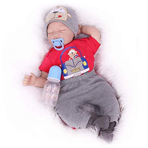 Kaydora Sleeping Reborn Baby Dolls, 22 Inch Lifelike Baby Boy Doll, Realistic Weighted Silicone Newborn Toddler for Boy