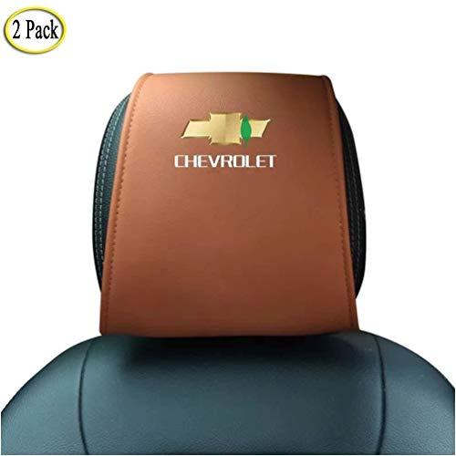 Los asientos del coche fundas de cojín reposacabezas almohada, fibra de carbono...