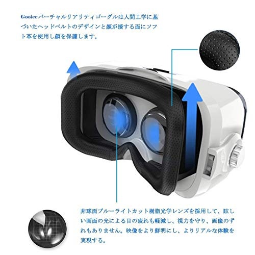 『Virtoba X5 VR BOX 3Dメガネ 3Dグラス VRゴーグル スマホゴーグル 焦点距離調節(ヘッドセット実装)』の3枚目の画像