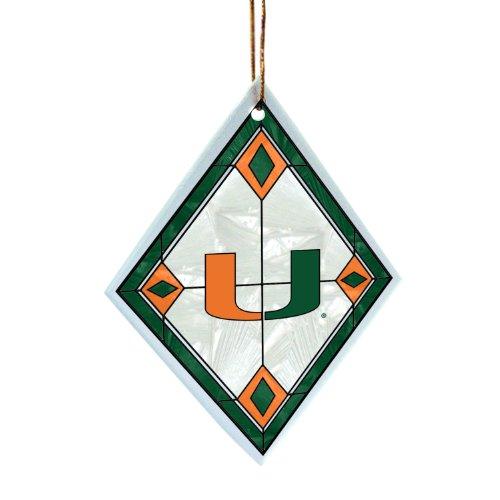 NCAA Miami Hurricanes Art Glass Ornament