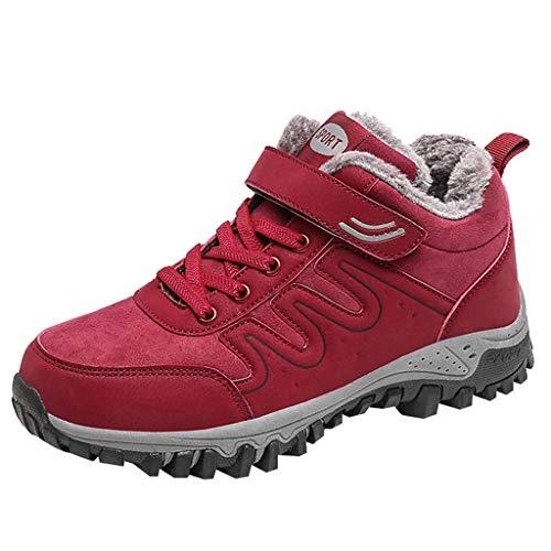 Junjie, damesschoenen, damesschoenen met massieve kleuren voor de winter, plus fluweel, antislip, voor buiten, warme wandelschoenen, sneakers
