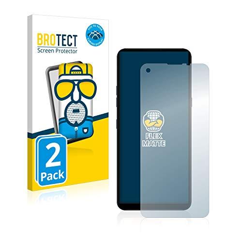 BROTECT Full-Cover Schutzfolie Matt kompatibel mit LG K51S (2 Stück) - Full-Screen Bildschirmschutz-Folie, 3D Curved, Anti-Reflex