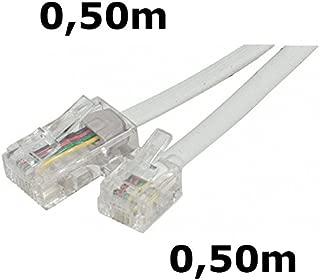 0,5 m, RJ12 6P6C, RJ12 6P6C, Gris, Male Connector//Male Connector, Plat kenable 007731 c/âble de t/él/éphone 0,5 m Gris Cables de t/él/éphone