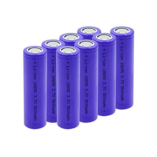 CNMMGL Batería De Litio Li-Ion De 5000mah 3.7v 18650, Recargable De La Alta Capacidad Usada para La Linterna 8pcs