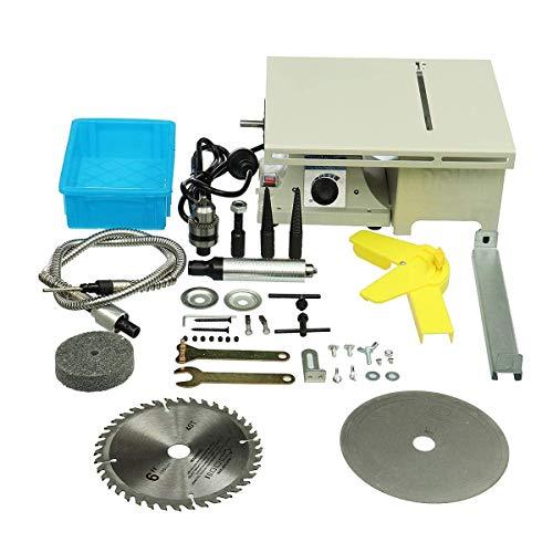 LSS-MDS Holzdrehmaschinen, Poliermaschine 350W Mini-Desktop-Tischkreissäge Holzbearbeitungsdrehbank Elektropoliermaschine Schleifmaschine Kappsäge Power Tools