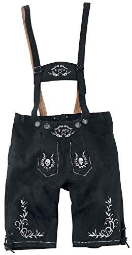 EMP Sepp Männer Kunstlederhose schwarz XL 100% Polyester Basics, Casual Wear, Oktoberfest
