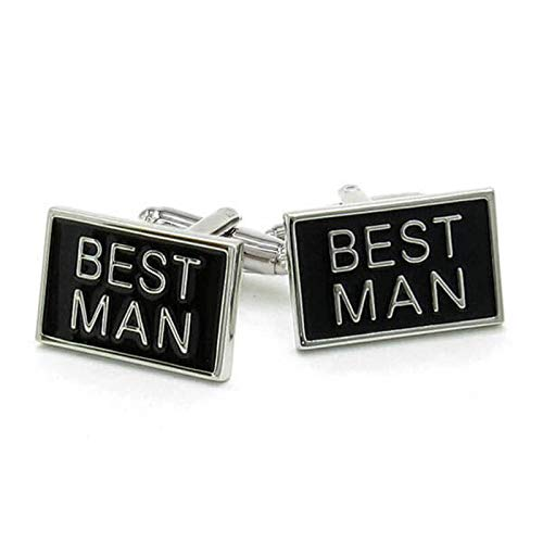 LA BELLE MANCHETTE Best Man Manschettenknöpfe, rechteckig, für Herren
