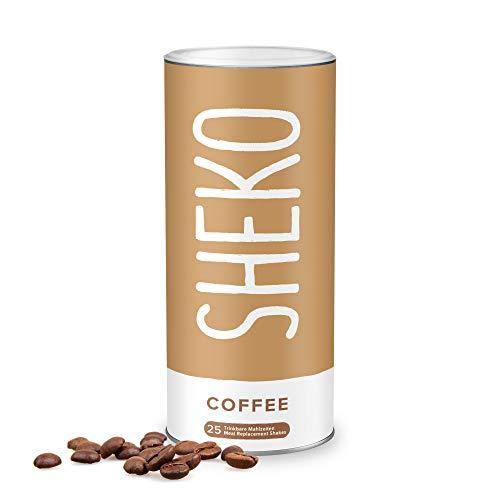 SHEKO Diät Shakes zum Abnehmen Kaffee | 25 Portionen Eiweißpulver Kaffee Protein Shake zum Abnehmen | Ideal als Abnehm Shake oder Eiweiß Shake