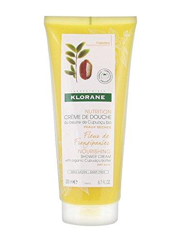 Klorane Corps Nutrition Crème de Douche Fleur de Frangipanier Gel Trockene Haut 200ml
