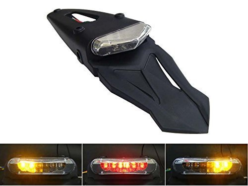 Preisvergleich Produktbild Motorrad LED Ampel Rücklicht mit Blinker Homologated für Hinteres Schutzblech