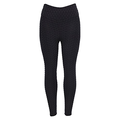 Fenverk Damen Sport Leggings, Drucken Leggings Damen Fitness-Sporthose Gym Yoga Athletische Hosen Winterleggings Thermoleggings Workout Trainingshose Damen Sport Yogahose(A Schwarz,S)