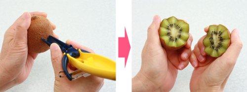 富士商 驚きの切れ味! ドイツ製 おすすめ ステンレス 両刃 ピーラー (パイナップルからトマトまで剥ける) 5164 イエロー