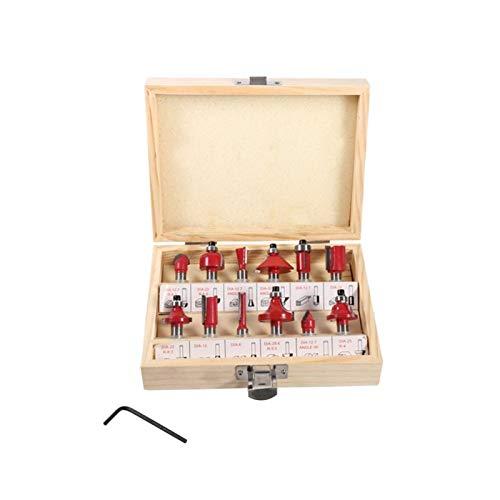 Kit de groove de cabeza de cepillador cortador de fresado de madera 12 piezas/juego de la molienda Cutter, fresa Set, de 8 mm de la carpintería Milling Cutter, carburo cementado Milling Cutter, Trat