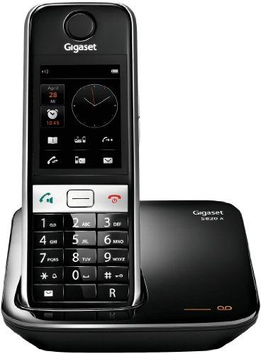 Gigaset S820A Dect-Schnurlostelefon mit Anrufbeantworter, Touch und Tasten, schwarz